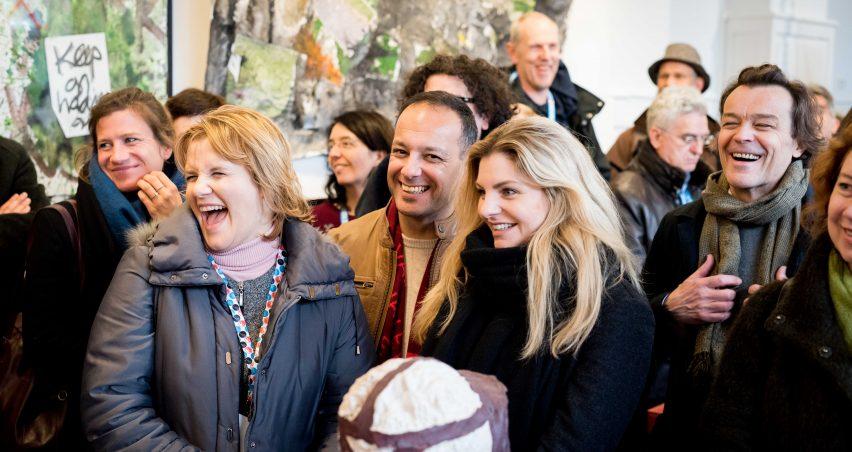 Opening expositie VHDG H47 tijdens culturele hoofdstad 2018 , kunstruimte H47 in Leeuwarden voor exposities en tentoonstellingen van beeldende kunst.